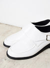 CYRA LOW BUCKLE SHOES (WHITE) at $ 15.00 only sold at And Well Dressed Online Fashion Store Singapore
