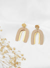 Duo Arcs Gold Earrings (Oat) at $ 28.00 only sold at And Well Dressed Online Fashion Store Singapore