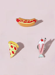 JUNK FOOD Enamel Pin Set at $ 15.90 only sold at And Well Dressed Online Fashion Store Singapore