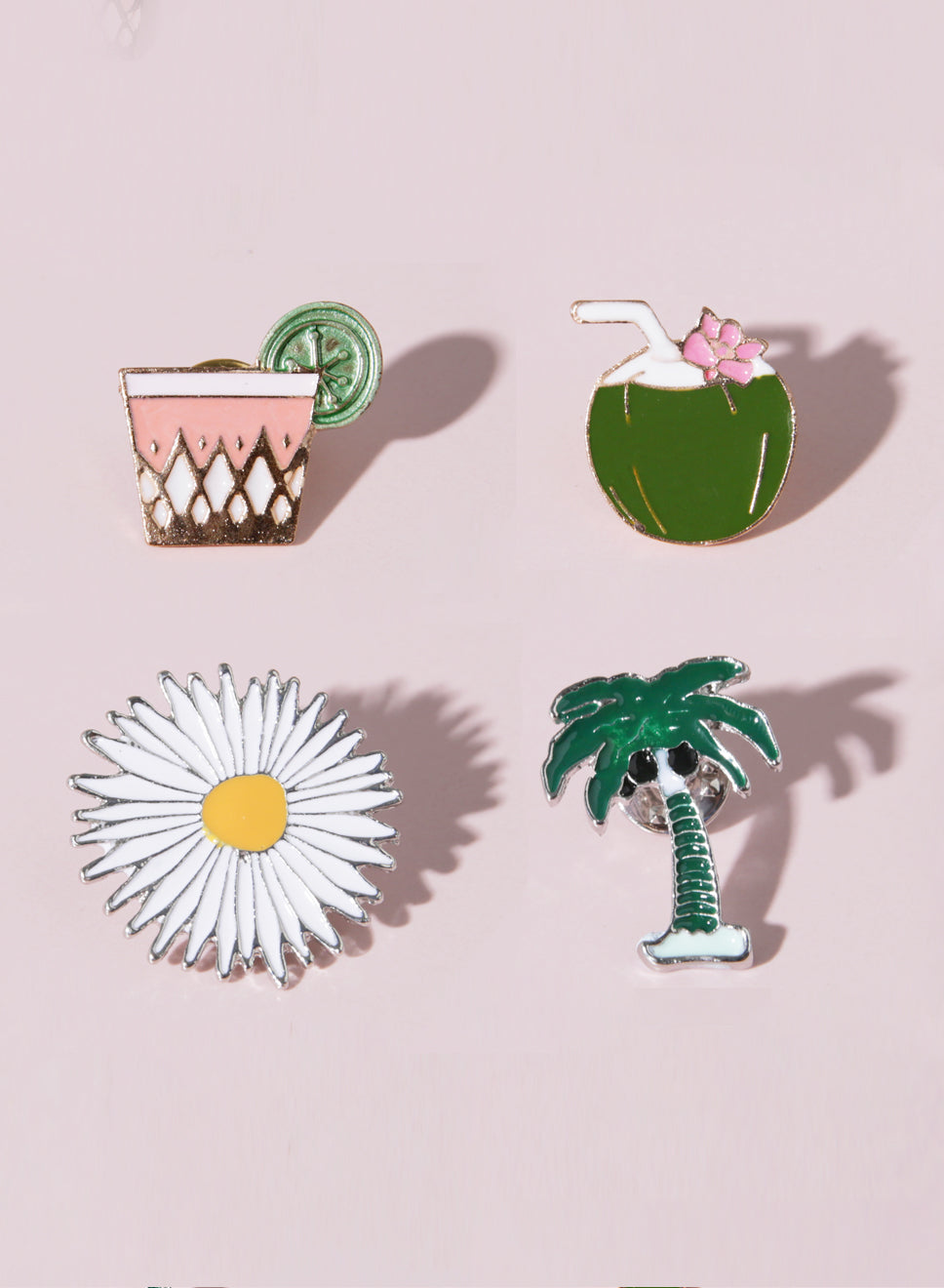 TROPICS Enamel Pin Set at $ 15.90 only sold at And Well Dressed Online Fashion Store Singapore