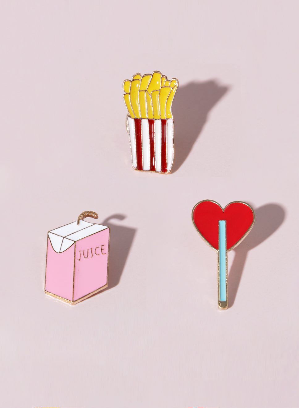 FOODIE Enamel Pin Set at $14.90 only sold at And Well Dressed Online Fashion Store Singapore