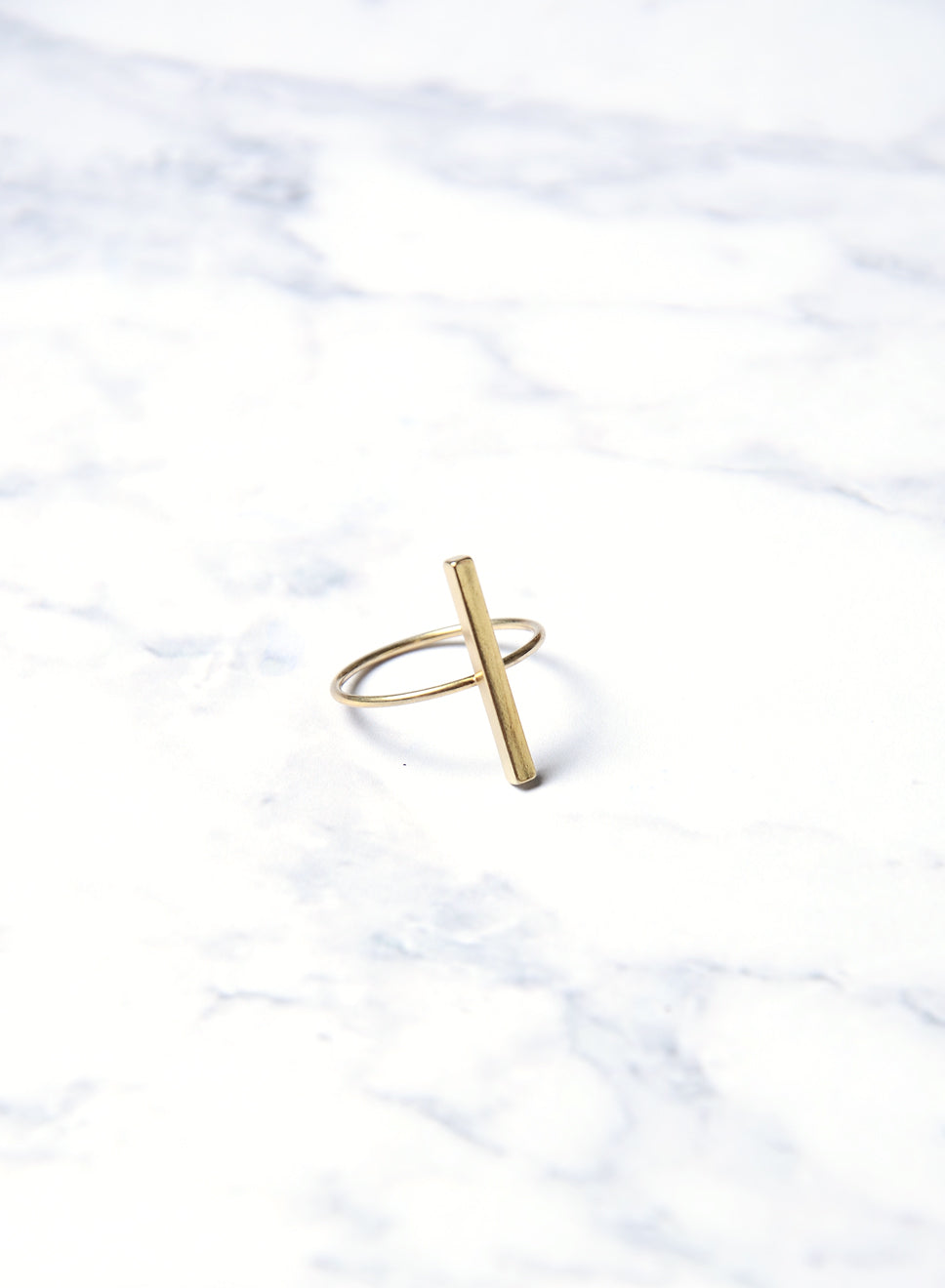 LAE SINGLE BAR RING GOLD at $ 5.00 only sold at And Well Dressed Online Fashion Store Singapore