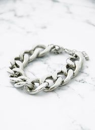 LYNX CHAIN BRACELET (SILVER) at $ 7.00 only sold at And Well Dressed Online Fashion Store Singapore