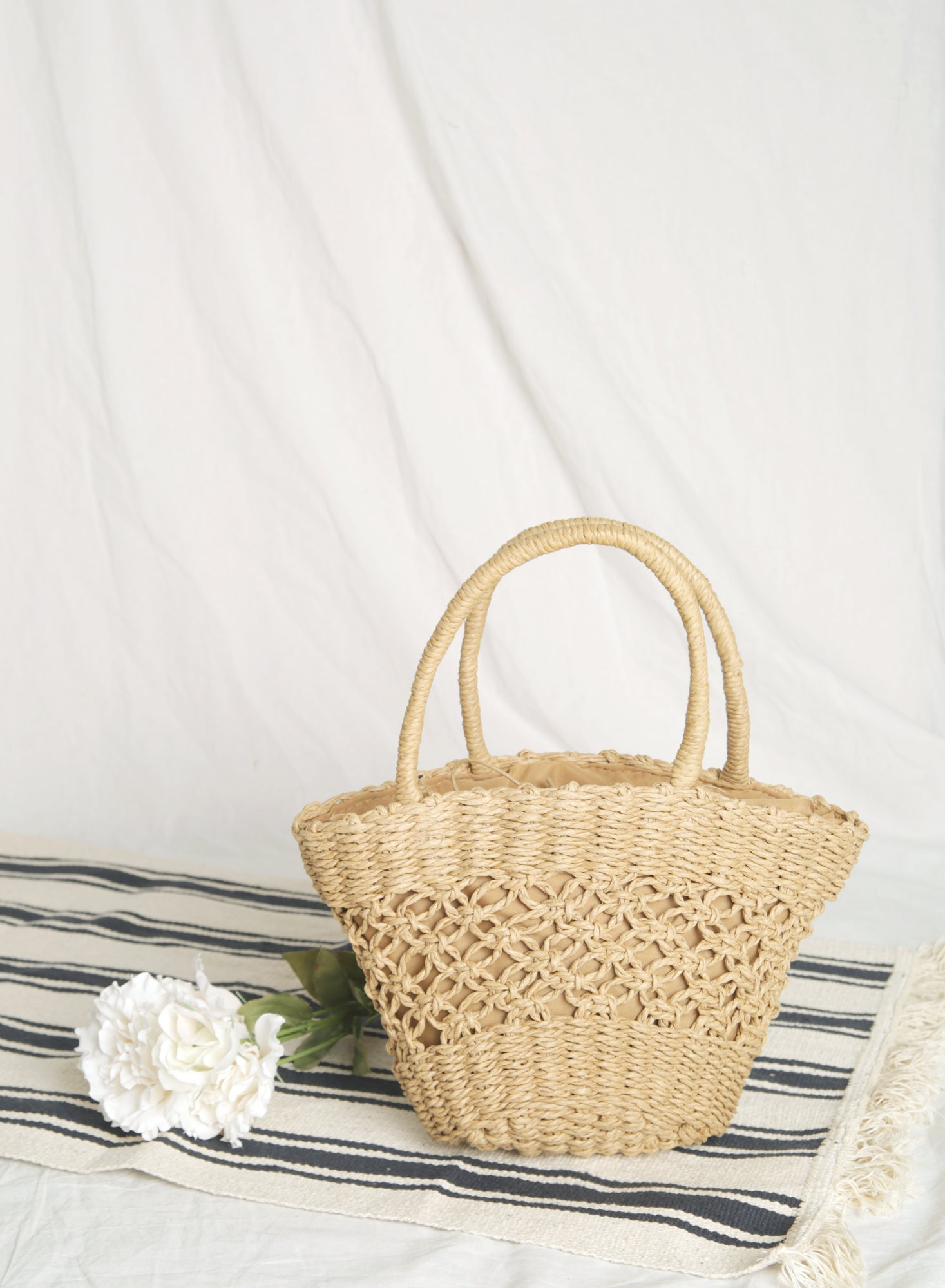 Adel Open Weave Tote (Natural)
