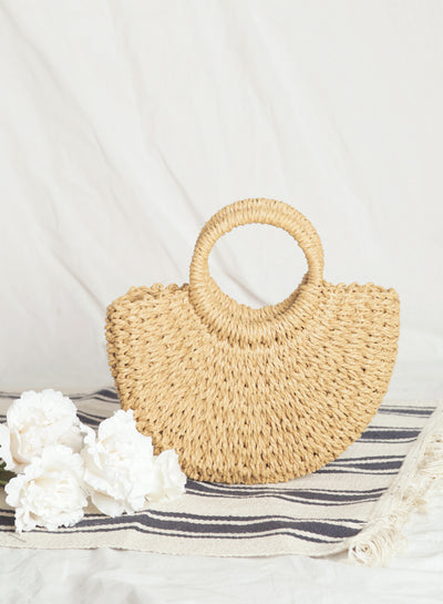 Livvia Mini Half Moon Tote (Natural)