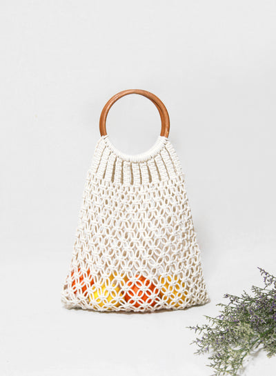 Mimi Crochet Woven Bag at $ 31.50 only sold at And Well Dressed Online Fashion Store Singapore