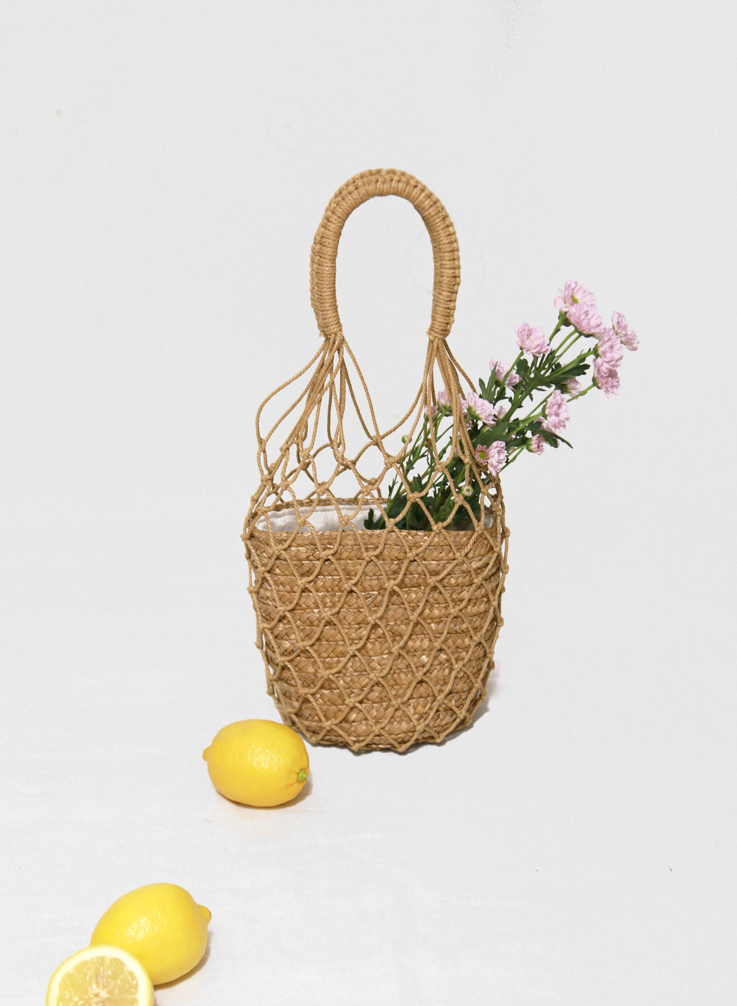 Malla Macramé Bucket Bag