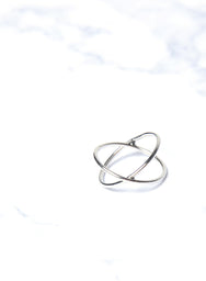 NEVA CRISS CROSS RING (SILVER) at $ 6.00 only sold at And Well Dressed Online Fashion Store Singapore