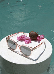 Kael Pink Frame Sunnies at $ 25.50 only sold at And Well Dressed Online Fashion Store Singapore