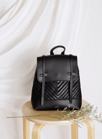 Paula Quilted Backpack (Black) at $ 33.50 only sold at And Well Dressed Online Fashion Store Singapore