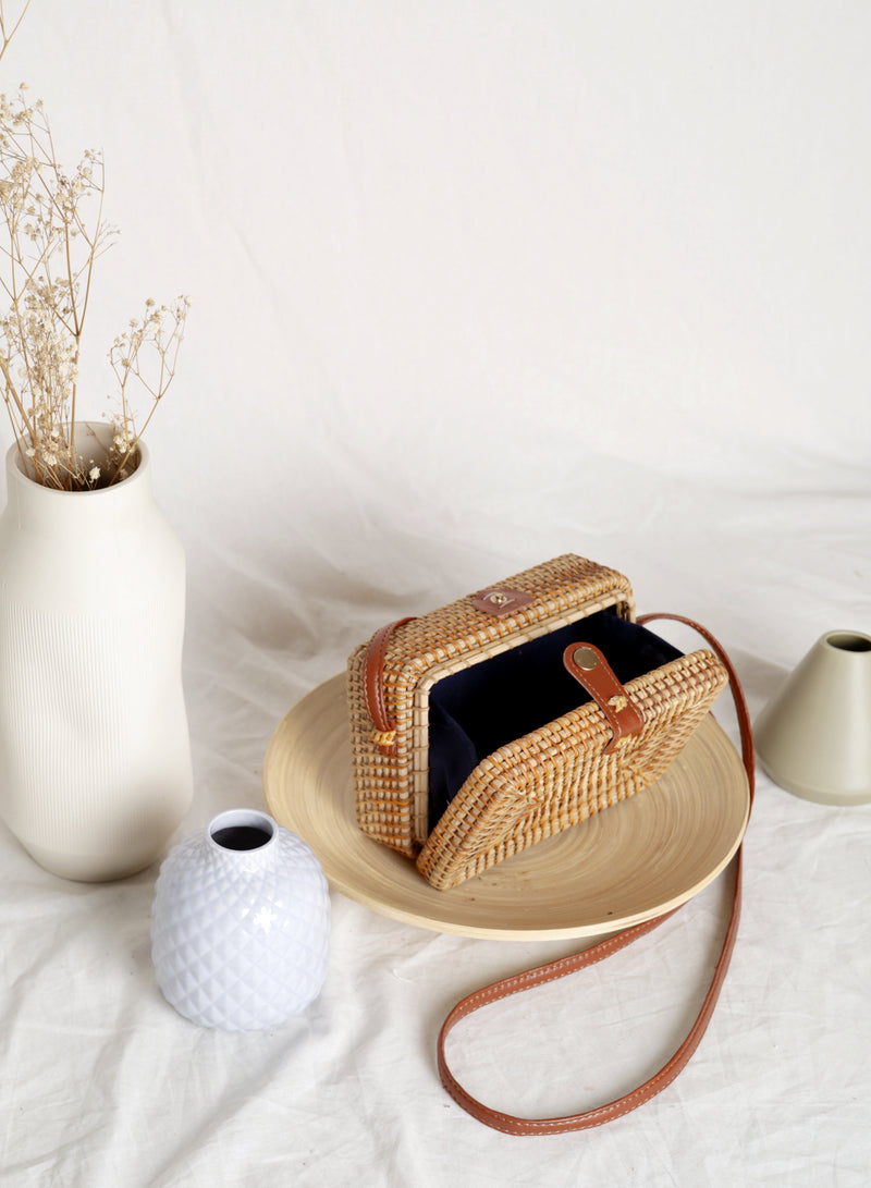Rainer Wicker Box Bag