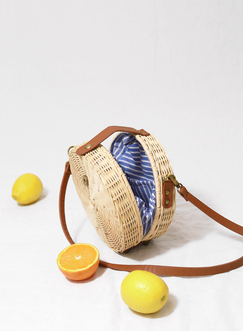 Cecily Round Wicker Bag at $ 39.90 only sold at And Well Dressed Online Fashion Store Singapore