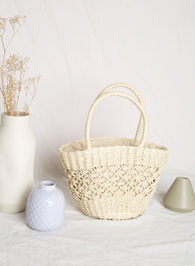 Adel Open Weave Tote (Light)