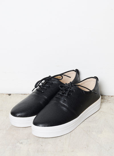 WES FAUX LEATHER SNEAKERS (BLACK) at $ 15.00 only sold at And Well Dressed Online Fashion Store Singapore