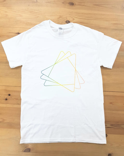 RYH Limited Edition Coloured Triangle T-Shirt in White