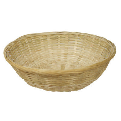 "Single 10"" Round Wicker Basket"