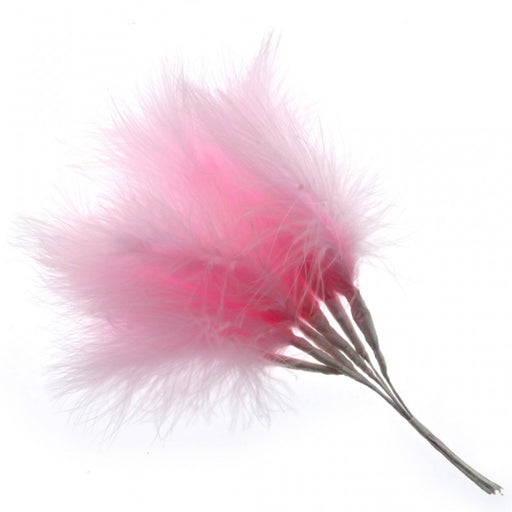 Fluffy Pale Pink Feathers x 6