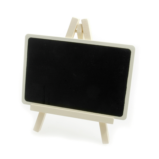 Black Chalk Board Sign Stand Easel - Ivory