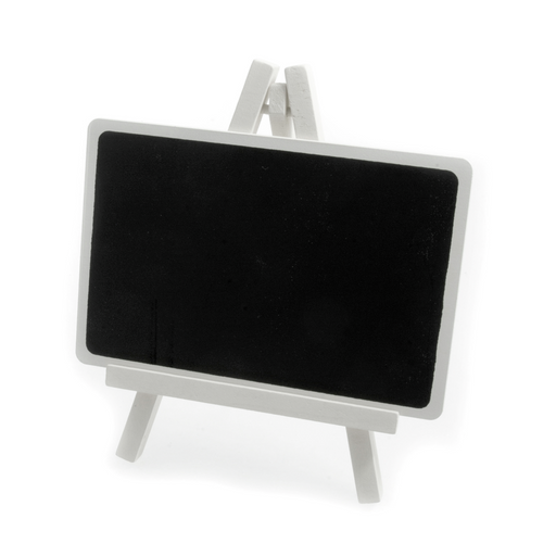 Black Chalk Board Sign Stand Easel - White