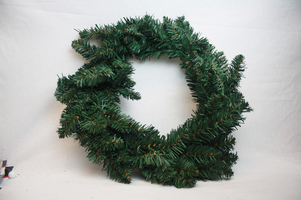 Artificial Green Pine Christmas Wreath x 28cm