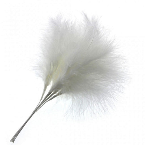 Fluffy White Feathers x 6