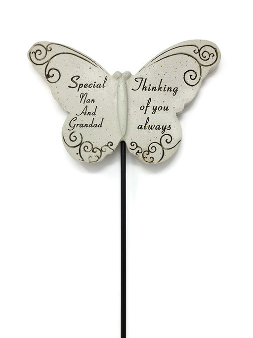 Butterfly Memorial Stick - Special Nan and Grandad