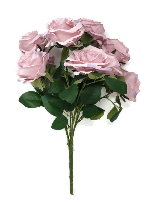 10 Head Open Rose Bush - Vintage Pink