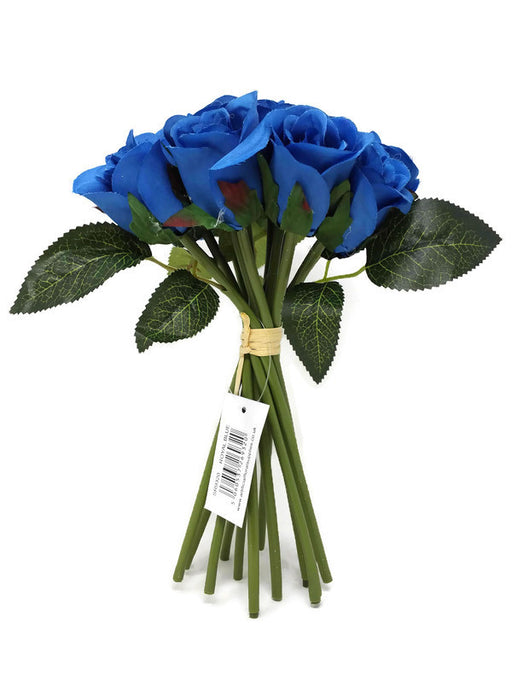 12 Head Rosebud Bundle x 25cm - Royal Blue