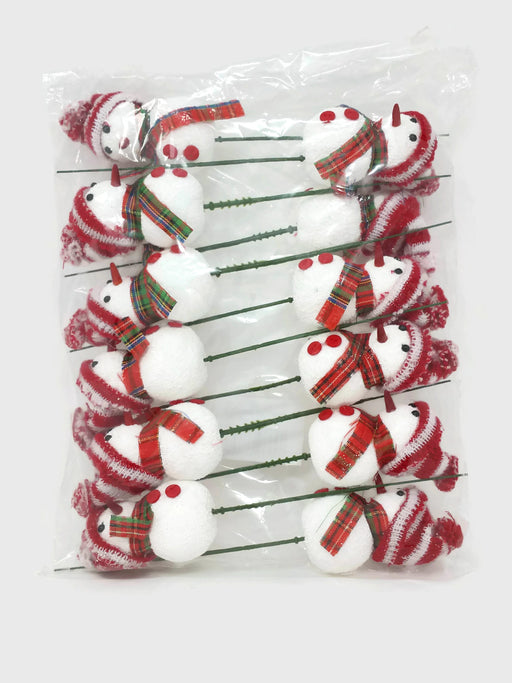 Snowman & Knitted Hat Pick x 12