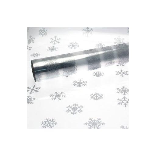 Large  Snowflake Cellophane - Silver