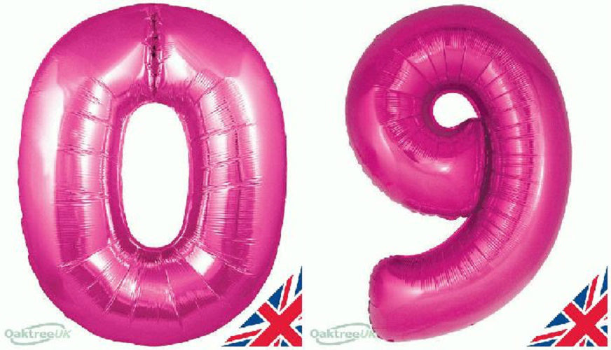 "30"" PinkFoil Number Balloon  -  0 -  9"