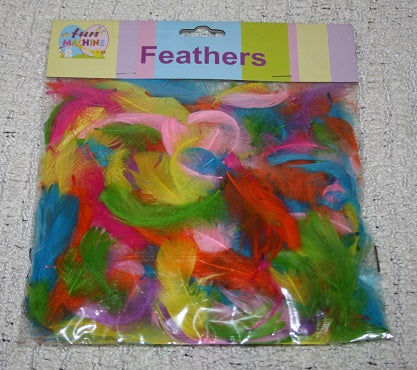 easter theme feathers