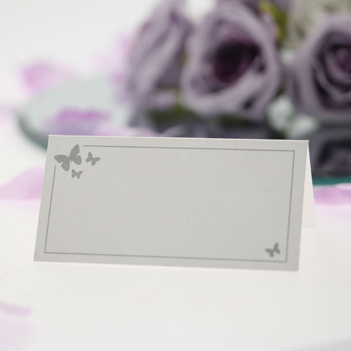 Ivory With Gold Butterflies x 50 Place Cards