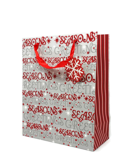 Christmas Gift Bag - 26 x 32 x 12cm - Seasons Greetings