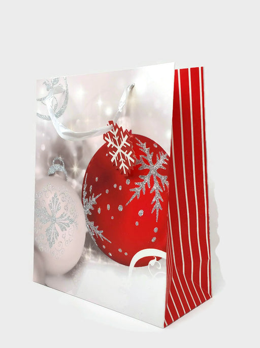 Christmas Gift Bag - 26 x 32 x13cm  - Festive Bauble