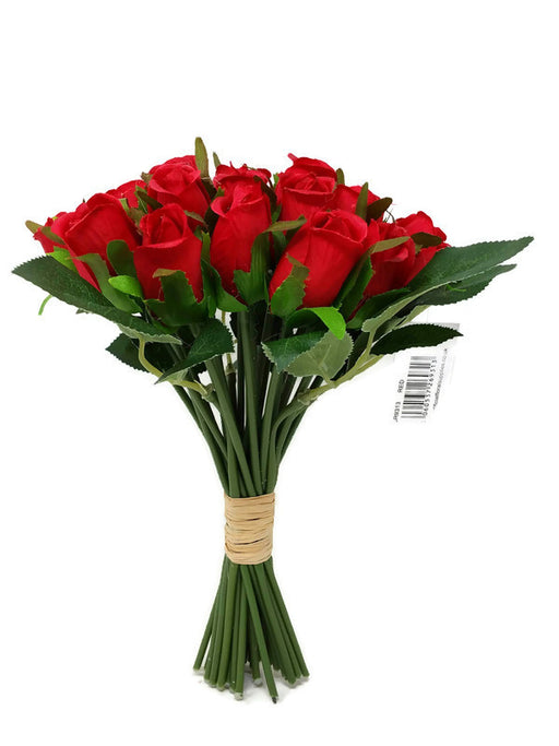 24 Head Mini Rose Bud Bundle - Red