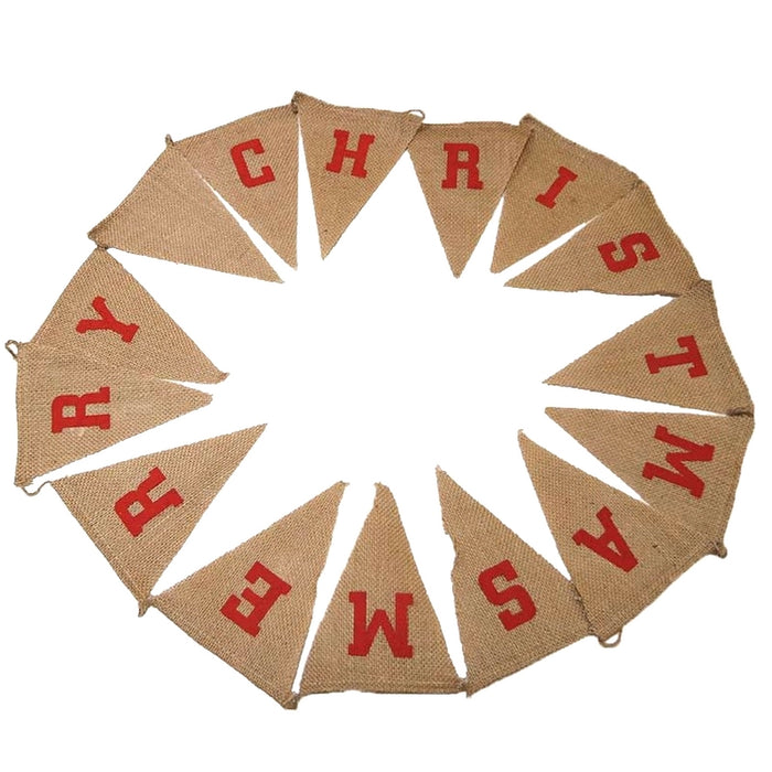 Natural Merry Christmas Bunting