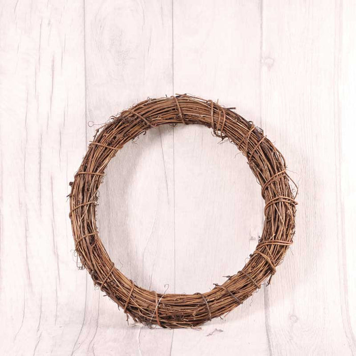 Natural Vine Twig Wreath x 25cm