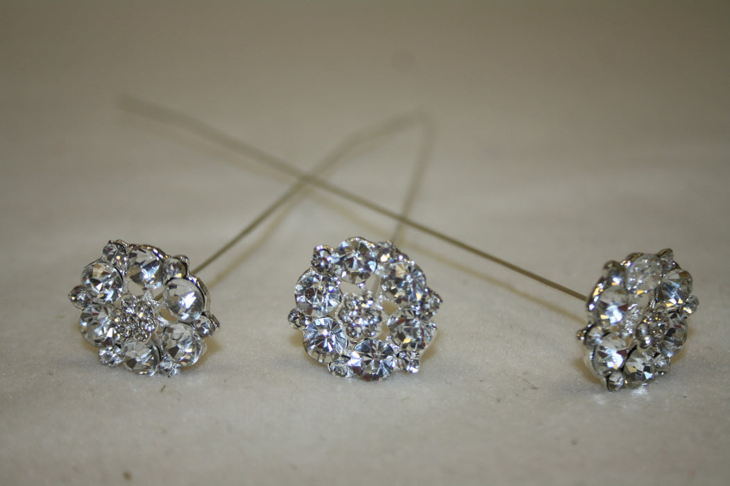 large diamante petal wire pick 3pcs