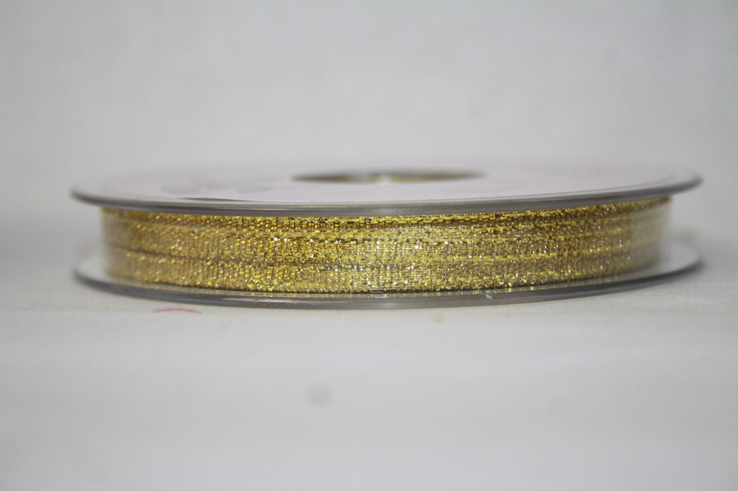 Gold Lurex Sparkle Ribbon 3mm x 50m