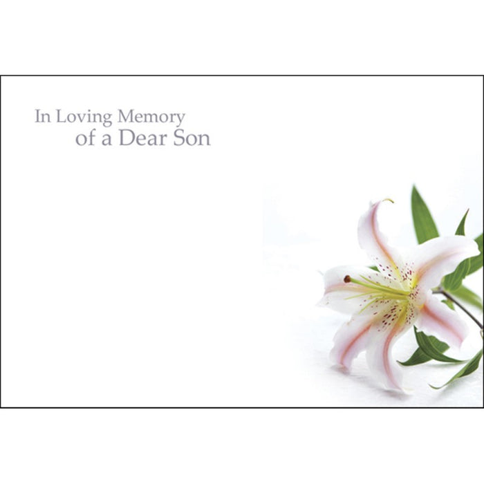 Pack of 50 Florist Cards - In Loving Memory Of A Dear  Son