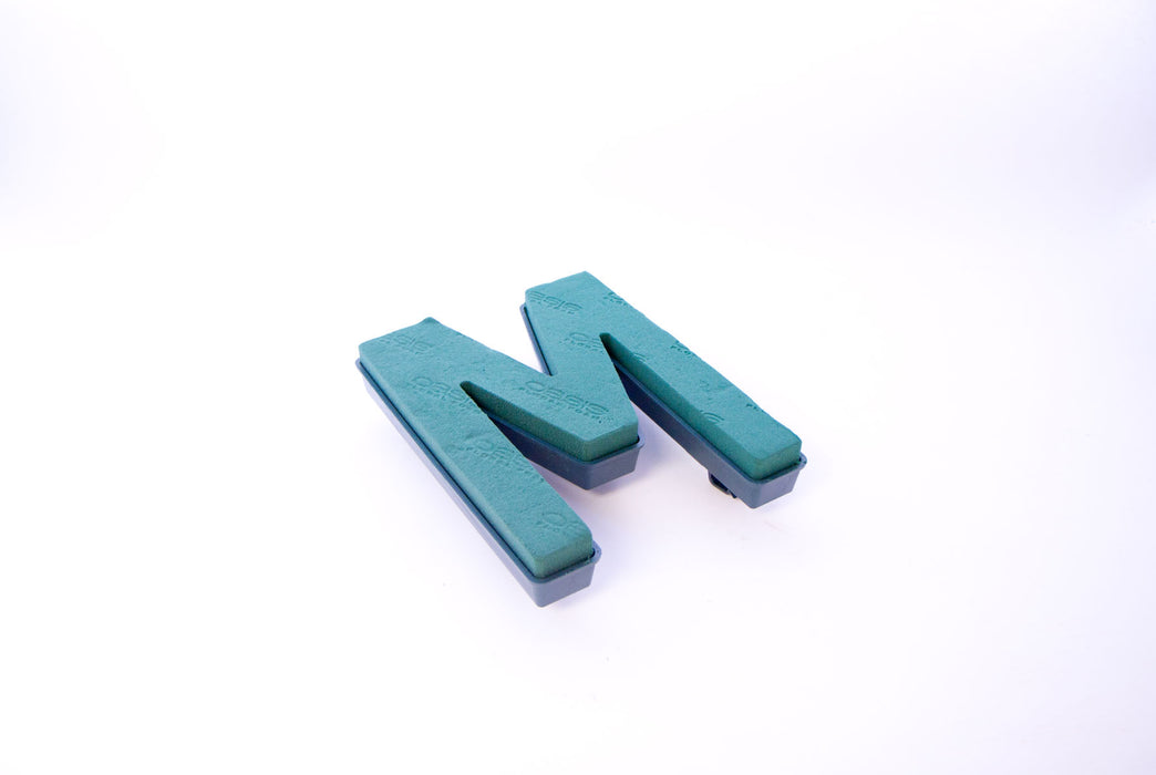 "Oasis Floral Foam Letter with Clips ""M"""