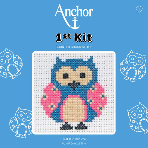 My First Cross Stitch Kit - Owl