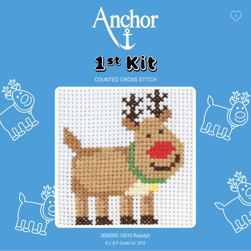 My First Cross Stitch Kit - Rudolph