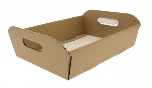 Cardboard Hamper Box x 38cm - Natural Kraft, Gold or Cream