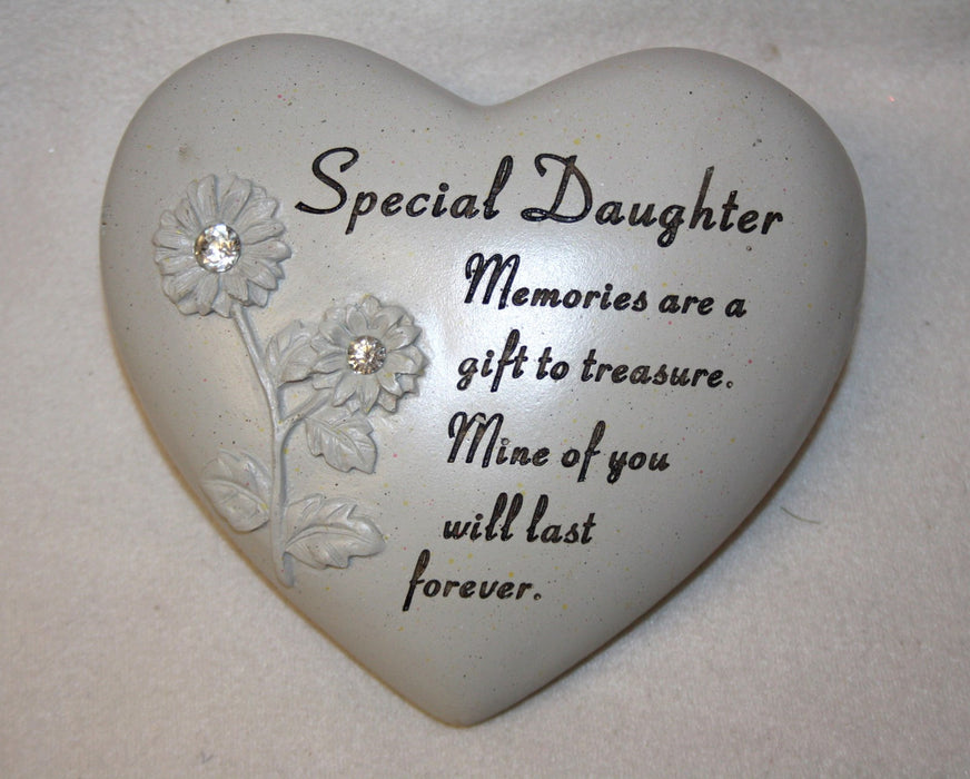 Heart Engraved Memorial - Special Daughter