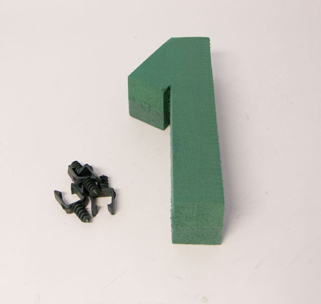 "Oasis Floral Foam Number with Clips ""1"""
