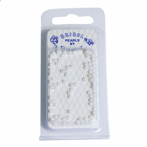 3mm Glass Pearls - Pack of 216 - White