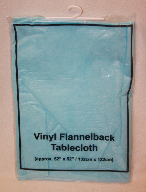 blue flannel back tablecloth