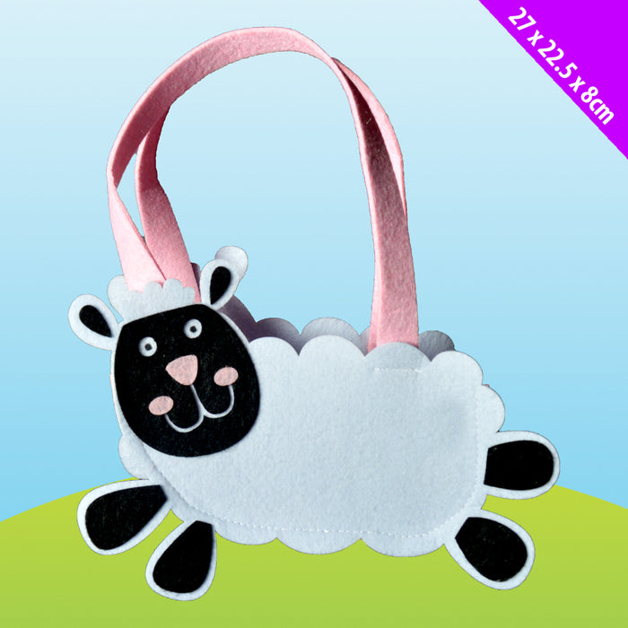 Easter Pink and White Sheep Bag